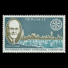 Monaco 1980 - 75th Anniversary of Rotary International City - Sc 1232 MNH