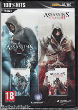 Assassin's Creed I & II PC Collection Double Pack Brand New Sealed