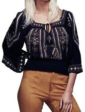 free People Don't Back Down' Embellished Peasant Top Size M $168
