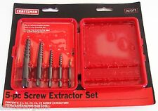 CRAFTSMAN 5pc SCREW EXTRACTOR EASY OUT SET 967372 REMOVE BROKEN SCREWS BOLT