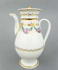 Große Biedermeier Kaffeekanne um 1820, Höhe 25cm, Tierkopf-Ausguß,Gold staffiert