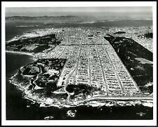 1950s CITY SAN FRANCISCO AERIAL CLIFF HOUSE,PLAYLAND,SUTRO BATHS~8x10 REAL PHOTO