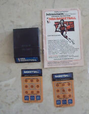 Intellivision  NBA BASKETBALL GAME w/ instructions& 2 overlays  Vintage  Sports