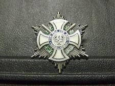 Pin Fürstlicher Hausorden von Hohenzollern Ritterkreuz mit Schwertern - 3,5 x 3