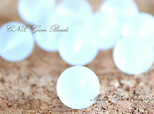5 Beads of Natural Clear Quartz Matte Round Beads 10mm Gemstone Crystal DIY Rare