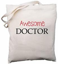 Awesome Doctor - Natural Cotton Shoulder Bag - School Gift