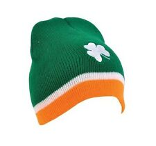 IRISH SHAMROCK BEANIE HAT!!! skull ski cap Ireland flag St Patricks Day snow