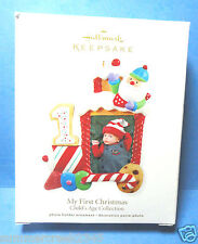 "Hallmark ""My First Christmas"" Photo Holder Ornament 2011"