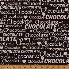 Oh Fudge! Chocolate Brown Candy Food Sweets Cotton Fabric Print by Yard D510.10