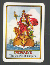 "Playing Swap Cards 1 VINT WIDE BRITISH ""DEWAR'S "" SCOTCH  WHISKY ADVT D96  CHECK"
