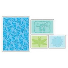 Sizzix Textured Impressions 4 x Embossing FOLDER SUMMER FUN SET FARFALLA 656261