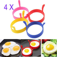 4X Silicone Pancake Fry Egg Ring Frying Fried Egg Round Mold Mould Kitchen Tool