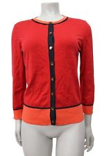 Banana Republic Issa Collection Colorblock Cardigan Sweater Ranger red Size S