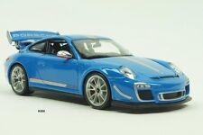 Porsche 911 (997) GT3 RS 4.0 año 2012 Azul/Plata 1:18 Bburago # 18-11036B