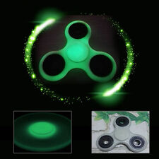 Cool Glow Hand Spinner Tri-Fidget Ceramic Ball Desk Focus Toy EDC For Kid/Adults
