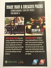 RARE XBOX 360 MAFIA II ADD-ON CONTENT DLC CODE PACKS MADE MAN & GREASER PACKS