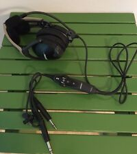 Bose X ANR Aviation Headset Battery Power with Airplane Plugs New Earseals
