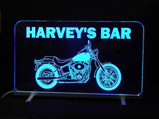 Personalized Motorcycle LED Sign, Man Cave, Garage Sign, Personalized Gift