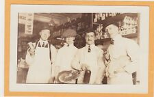 Real Photo Postcard RPPC - Butcher and Grocer with Ham and Turkey in Store