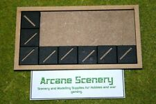 MDF laser cut MOVEMENT TRAY (6×3) 25mm Infantry Bases