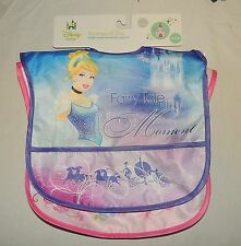 NEW Disney Baby Girl Princess Waterproof Bibs 2 Pk Cinderella Tiana Belle Ariel