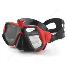 New Camera Mount Diving Mask Scuba Snorkel Swimming Goggles for GoPro Camera Red