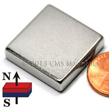 "CMS Magnetics® Strong N50 Neodymium Square Magnet 1""x 1""x 1/4"" 1-pc"