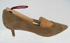 *Womens CHARLES DAVID Light Brown suede pointy toe pumps shoes sz. 6, NEW