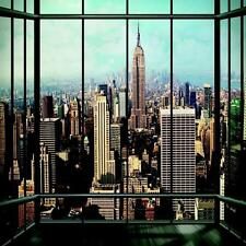 1 Pared Gigante Foto Wallpaper New York Ventana Paisaje Ny Mural 3.15 X 2.32 M