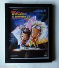 FRAMED BACK TO THE FUTURE 2 MOVIE POSTER SIGNED  ARTIST CHILD'S ROOM WALL ART