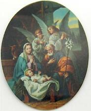 MRT  Holy Family w Angels Christmas Holy Nativity Crib Scene Fridge Magnet 3""