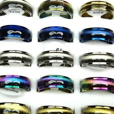 New 10pc Wholesale Jewelry Lots Mix color Cat eye Stainless steel fashion Rings