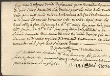 71 BELLEVESVRE QUITTANCE CHEUVOT CURE GENOT DUVARDE MICHEL NOIROT BOUHANS 1762