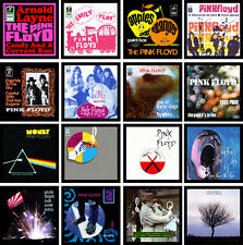 PINK FLOYD 16 pack of vinyl singles cover discography magnets