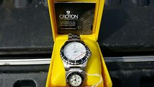 Mens Croton Divers Watch With Travel Jewelry Case 2pc Lot