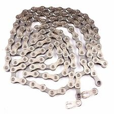 KMC X10.93 silver 10 Speed Stretch-Proof Bike Chain 114L with missing link