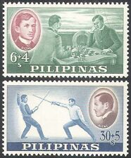 Philippines 1962 Rizal Foundation/Sports/Fencing/Chess/Games 2v set (n28933)