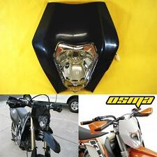KTM EXC XC MXC 250 450 525 530 Black Dirt Bike Headlight Head Lamp Fairing
