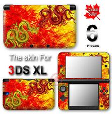 Fighting Dragon Arts SKIN VINYL STICKER DECAL COVER for Nintendo 3DS XL