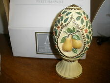 VINTAGE 1994 AVON SEASON'S TREASURES DECORATIVE EGG-FRUIT HARVEST--NEW