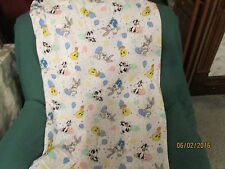 Vintage Warner Brothers  Baby Looney Tunes Fitted Crib Sheet  dated 2000