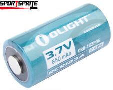 1pc Olight 16340 RCR123A 3.7V 650mAh Rechargeable Li-ion Battery for flashlight