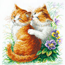 Cross Stitch Kit Gentle care (cat)