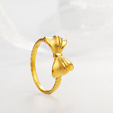 Authentic 24k Yellow Gold Bow Ring -Ring size: 6.5