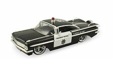 "Jada Heat 1959 Chevy Impala Police 1:24 scale 9.5"" diecast model car J57"