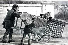 Street Musicians 1890 Pipe Smoker DANCING MUZZLED TOBY DOG Matted Art Engraving