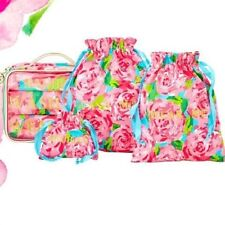 Lilly Pulitzer Hotty Pink 1st Impression Set: Travel Lingerie Laundry Bags NWT