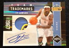 "2011-12 PANINI LIMITED ""TEAM TRADEMARKS"" GAME-USED AUTO TY LAWSON 8/25 Sikk 3clr"