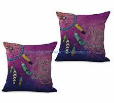US SELLER-set of 2 cheap pillows American native dreamcatcher cushion cover