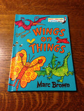 Rare SIGNED Marc Brown WINGS ON THINGS Dr Seuss Bright & Early Books Edition